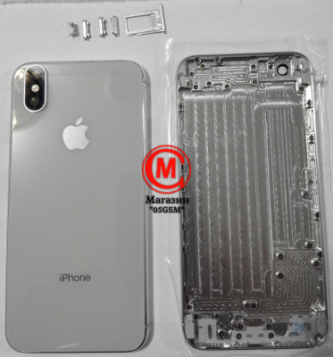 Корпус iPhone 6G White ORG (имитация iPhone X) БЕЗ наушника